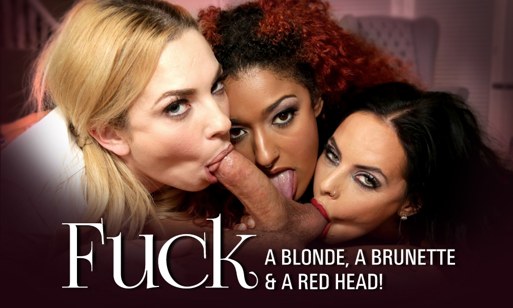 Fuck a Blonde, a Brunette & a Red Head!